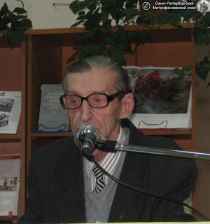 Ю. А. Мазанов - участник Первой Ямбургской международной научно-практической конференции, посвящённой окончанию Гражданской войны на Северо-Западе России, проходившей 20-21 ноября 2010 г. в Кингисеппе. Фото О.Ю. Куликова, 20.XI.2010 г.