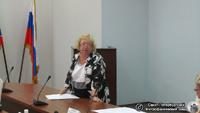Представление проекта реставрации малого амбара Н.Б. Шаловой. Фото Е.В. Лаврентьевой, 25.VII.2012 года.