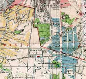 Fragment planu Piotrogrodu (Cmentarz Mitrofanjewski). 1916.