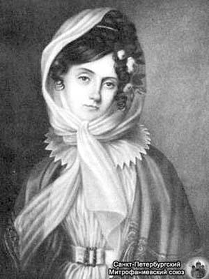 Portret Marii Szymanowskiej. Malarz nieznany.