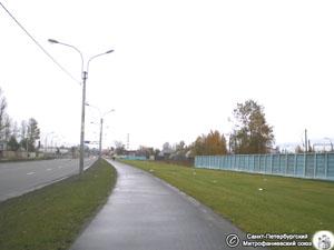 Nowoczesny obraz terenu cmentarza Mitrofaniewskiego, na miejscu pochówku M. Szymanowskiej (2009).