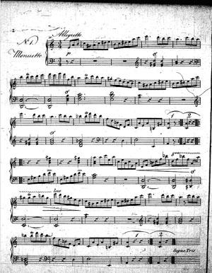 Fragment jednego z utworów Szymanowskiej.